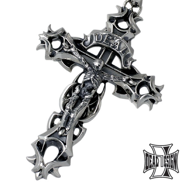 DEAL DESIGN God remove silver pendant / comes with chain / cross / Cross / Skull / Skeleton bones / Necklace