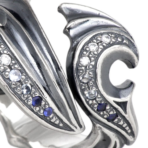 Artemis Classic devil silver ring / Numbers 7 to 25