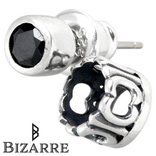Bizarre Holy Crown Silver Pierced Earring Black One Piece Sell